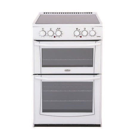 Belling Enfield E552 55cm Freestanding Double Oven Electric Cooker White