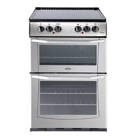 Belling Enfield E552 55cm Double Oven Electric Cooker With Ceramic Hob - Silver
