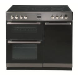 GRADE A2 - Belling DB4 90E 90cm Electric Range Cooker - Stainless Steel