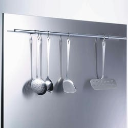GRADE A1 - Belling SBK90R 90cm Stainless Steel Splashback with Rail