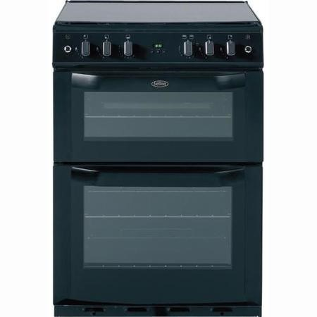 Belling FSG60DOP 60cm Double Oven Gas Cooker in Black