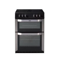 Belling FSE60DO 60cm Freestanding Double Oven Electric Cooker - Stainless Steel Best Price, Cheapest Prices