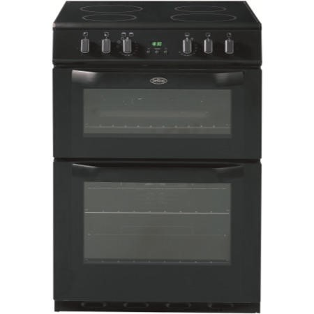 Belling FSE60DOP 60cm Freestanding Double Oven Electric Cooker in Black