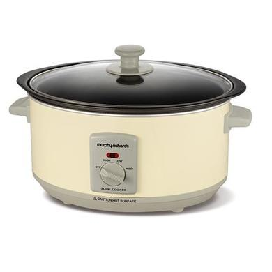Morphy Richards 460002 3.5lt Aluminium Searing Slow Cooker In Cream