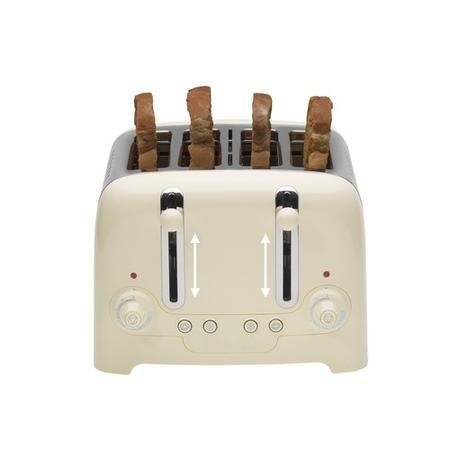 Dualit 4 Slot High Gloss Lite Toaster Cream