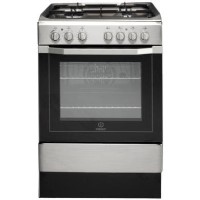 Indesit I6G52X 60cm Single Oven Dual Fuel Cooker - Stainless Steel
