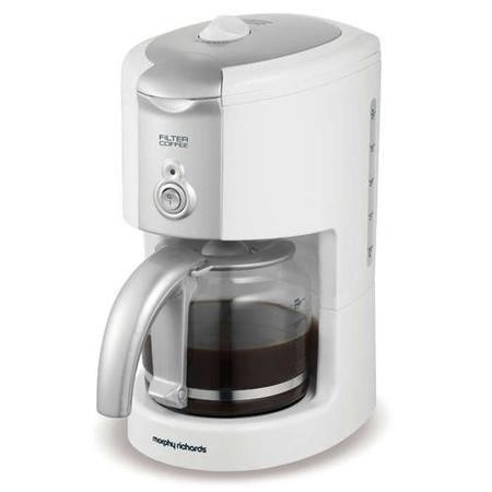 Morphy Richards Coffee Maker Not Working : Morphy Richards 47031 White Filter Coffee Maker Appliances Direct