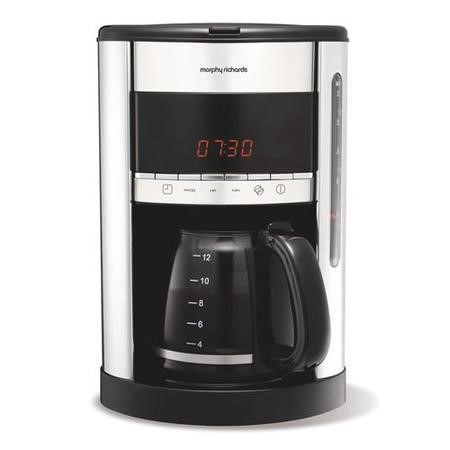 Morphy Richards Coffee Maker Not Working : Morphy Richards 47088 Accents Digital Filter Coffee Maker Polished 12 Cu Appliances Direct