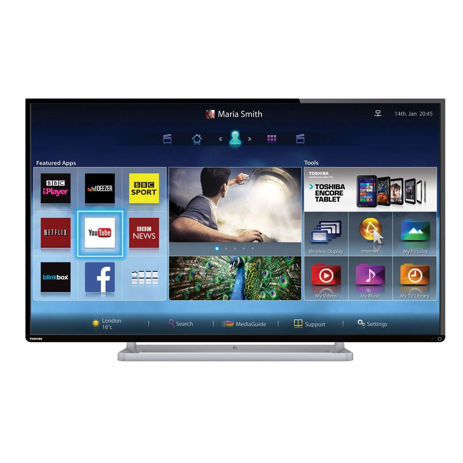 Toshiba 42l6453db 42 Inch Smart Led Tv Appliances Direct