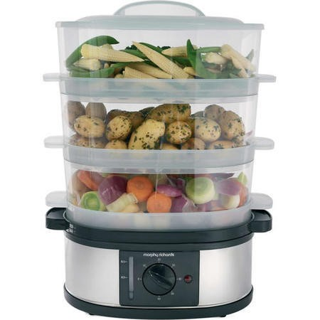 Morphy Richards 48755 3 Tier Steamer