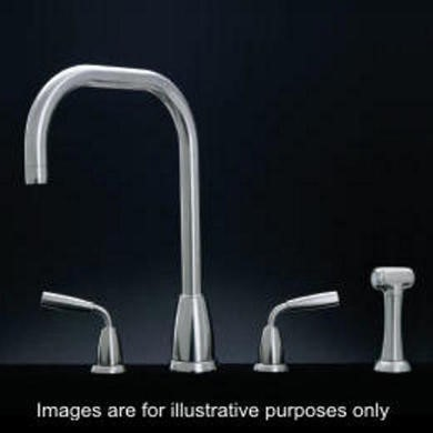 Perrin and Rowe Contemporary Collection Titan Three Hole Mixer Tap With Rinse Option
