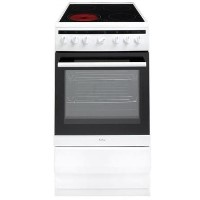 Amica 508CE2MSW 50cm Single Fan Oven Electric Cooker With Ceramic Hob - White Best Price, Cheapest Prices