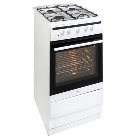 Amica 508GG5W Freestanding 50cm Single Cavity Gas Cooker - White