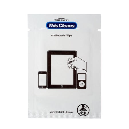 Techlink This Cleans - Screan clean wipes x 12 wet/dry sachets