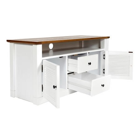 Shepperdine White TV Stand with Storage