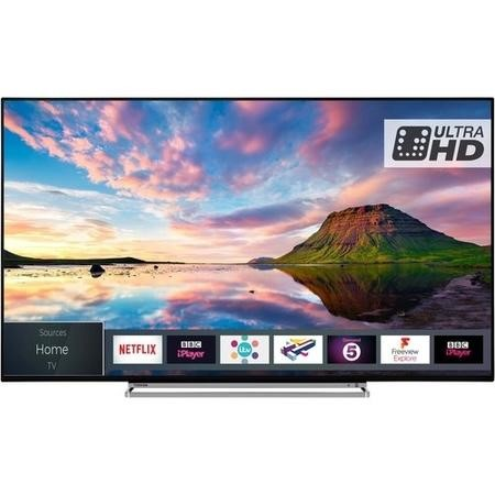 "Toshiba 55U5863DB 55"" 4K Ultra HD Dolby Vision HDR LED Smart TV with Freeview Play and Freeview HD"