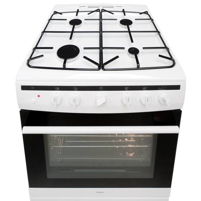 Amica 608GG5MSW 60cm Single Oven Gas Cooker - White   Appliances Direct