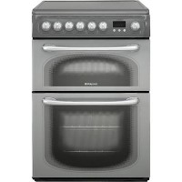 Hotpoint 60HEG 60cm Wide Electric Cooker With Ceramic Hob - Black Best Price, Cheapest Prices