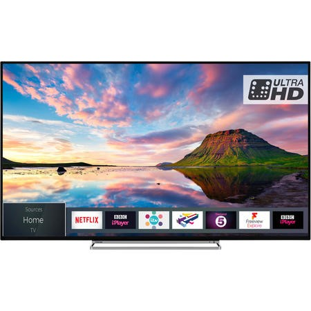 "Toshiba 65U5863DB 65"" 4K Ultra HD Dolby Vision HDR LED Smart TV with Freeview Play and Freeview HD"
