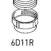 Elica 6D11R Threaded Hose Connector 150mm