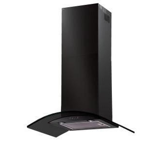 Baumatic BT7.3BGL Curved Glass 70 cm Chimney Cooker Hood Black