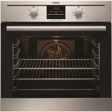 BE2003021M AEG BE2003021M Electric Built-in Single Oven In Stainless Steel With Antifingerprint Coating