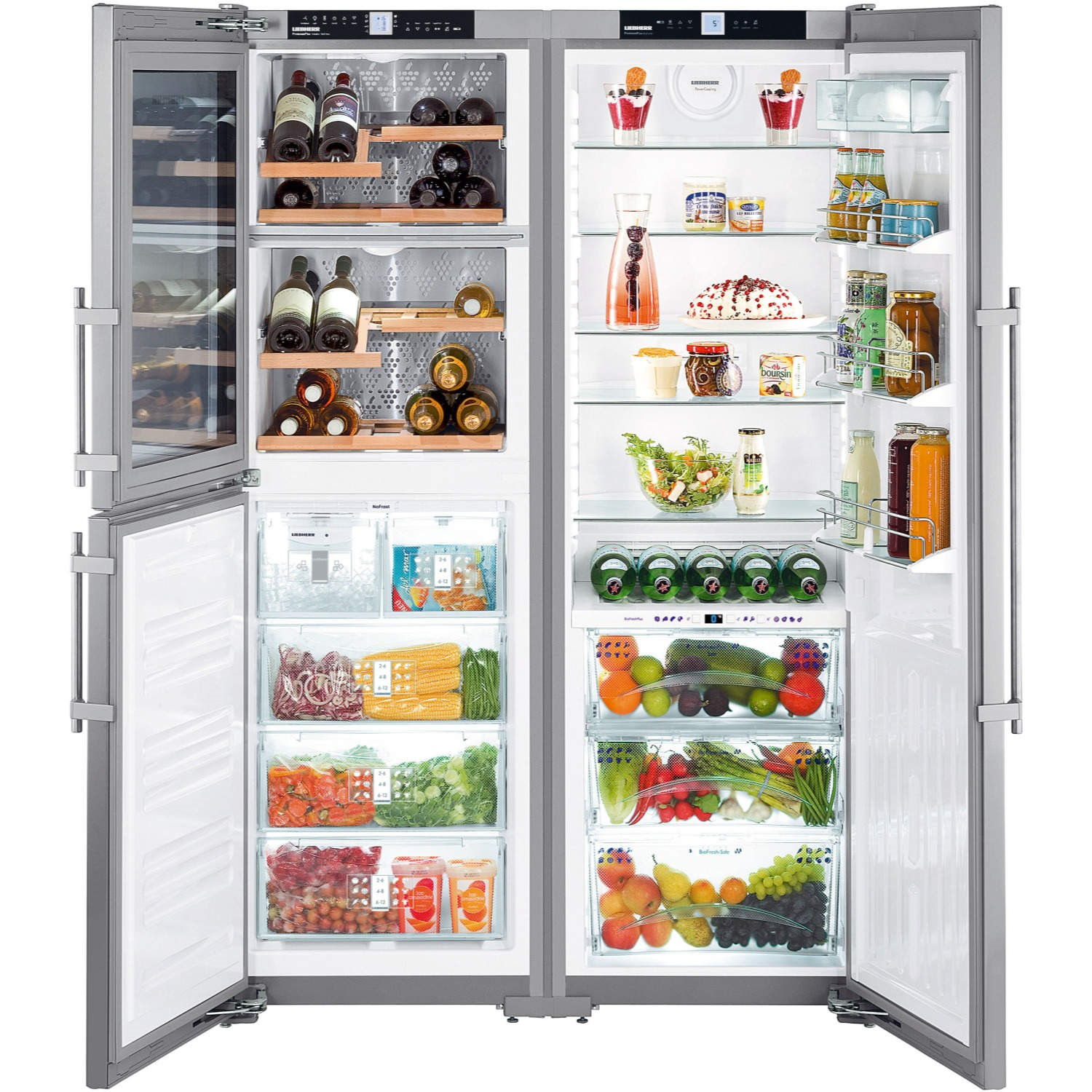 What Is An American Fridge Freezer Part - 19: Liebherr SBSES7165 BioFresh NoFrost American Side-by-side Fridge Freezer  Stainless Steel