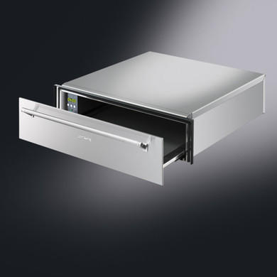 Smeg Display 14cm High Linear Warming Drawer Stainless Steel