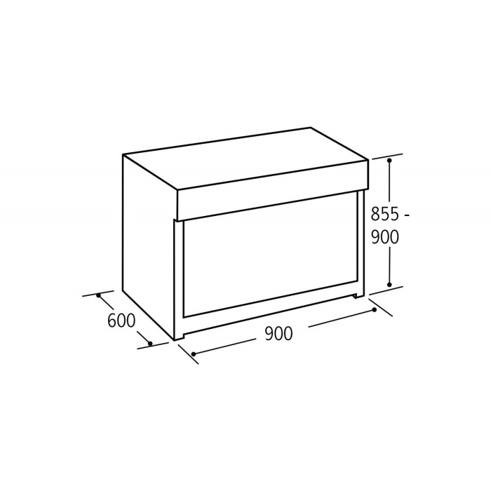 Matrix MR111SS Single Oven Multifunction 90cm Dual Fuel