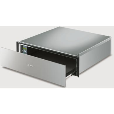 77227663/2/CTP15X GRADE A1 - As new but box opened - Smeg CTP15X Cucina 15cm Height Stainless Steel Handle-less Warming Drawer Stainless Steel