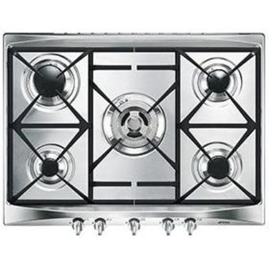 77228222/1/SR275XGH GRADE A2 - Light cosmetic damage - Smeg SR275XGH Cucina 70cm Stainless Steel 5 Burner Gas Hob with Cast Iron Pan Stands and New Style Controls