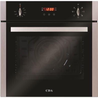 77237509/1/SC612SS GRADE A1 - As new but box opened - CDA SC612SS Seven Function Electric Built-in Single Fan Oven With Touch Control Timer - Stainless Steel