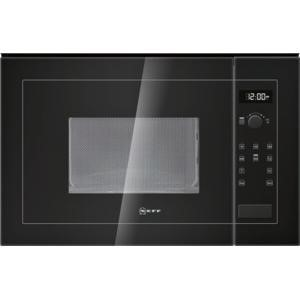 GRADE A2 - Neff H11WE60S0G 800W 20L Built-in Microwave Oven Black For 60cm Wide Cabinet