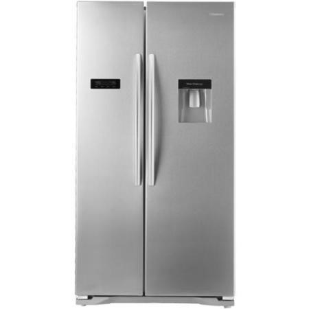 Hisense RS723N4WC1 Side By Side American Fridge Freezer With Water Dispenser Stainless Steel Effect Doors