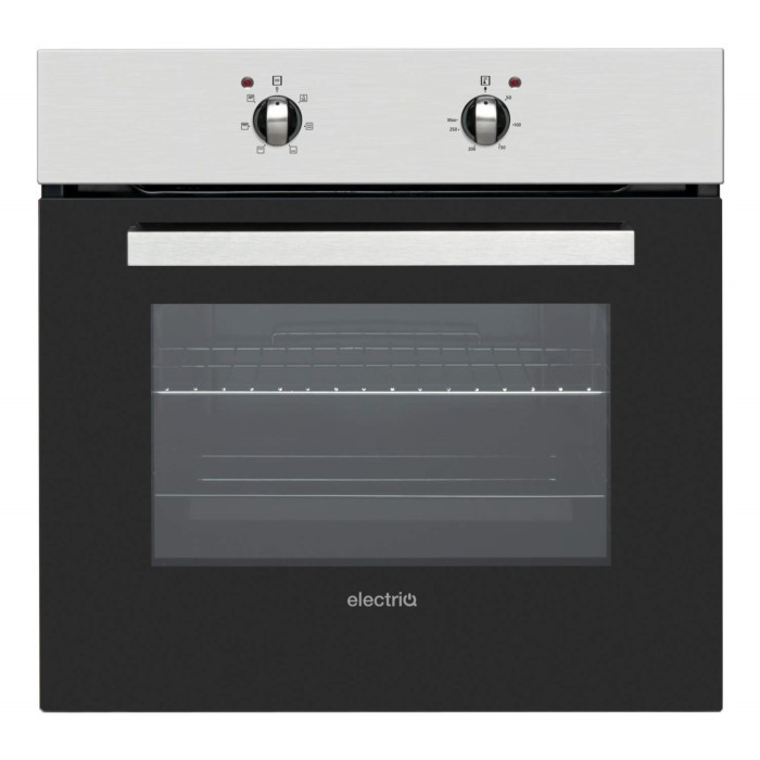 Electriq 60cm Single Static Built In Electric Oven Stainless Steel