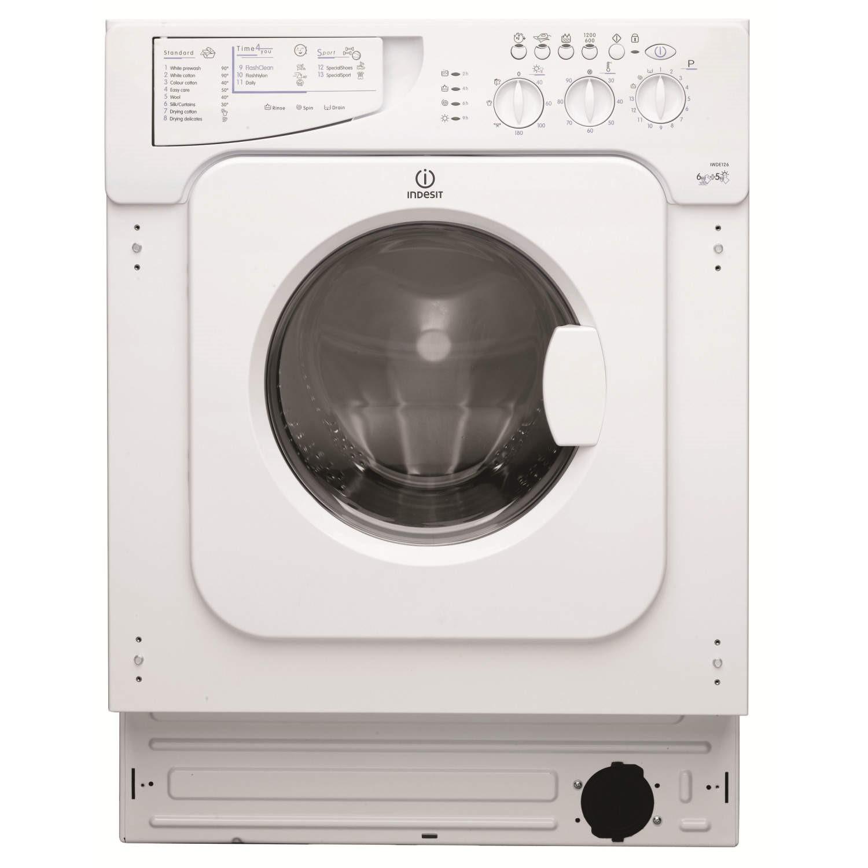 Indesit Iwde126 6kg Wash 5kg Dry 1200rpm Integrated Washer Dryer