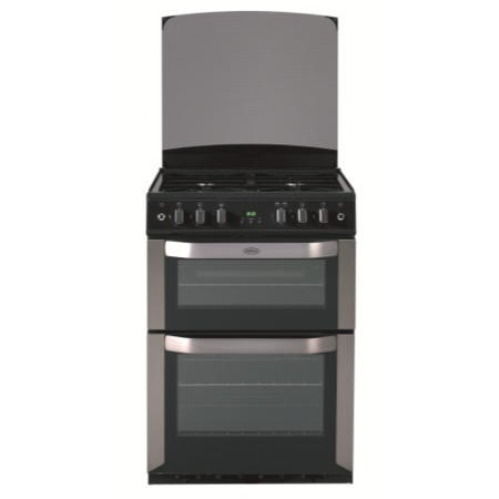 Belling FSG60DOP 60cm Double Oven Gas Cooker in Stainless steel
