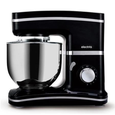 electriQ 5.2L 1500W Stand Mixer with 3 Mixing Attachments - Black