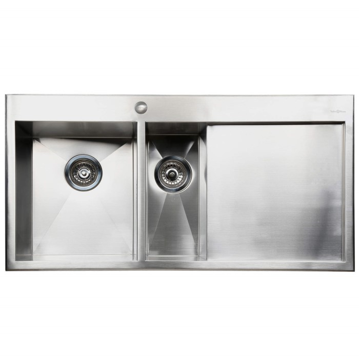 1.5 Bowl Kitchen Sink Taylor moore georger 15 bowl right hand drainer stainless steel taylor amp moore georger 15 bowl right hand drainer stainless steel kitchen sink workwithnaturefo