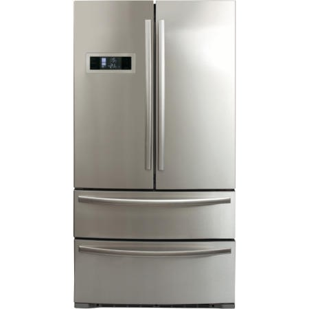 GRADE A3 - CDA PC87SC American Style Two Door Two Drawer Freestanding Fridge Freezer - Stainless Steel Colour