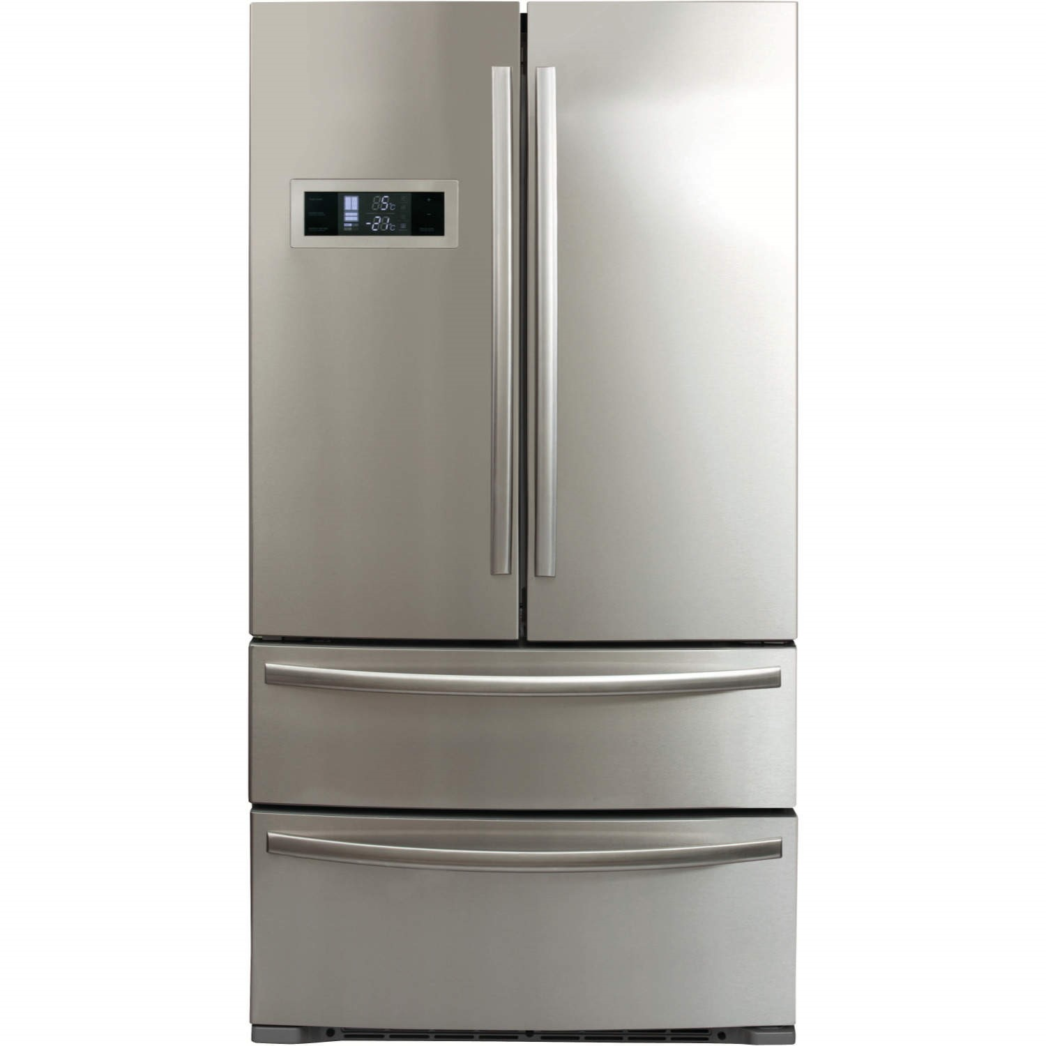 CDA PC87SC American Style Two Door Two Drawer Freestanding Fridge Freezer -  Stainless Steel Colour