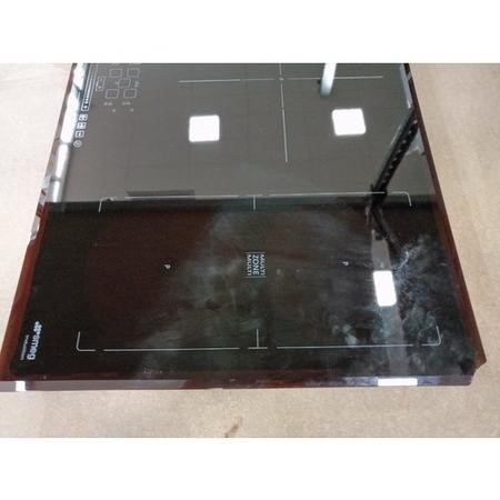 GRADE A3 - Smeg SIM592B 90cm Multizone Angled Edge Glass Induction Hob with Touch Controls
