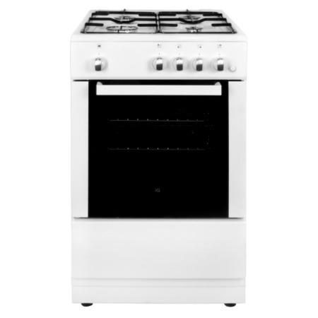 electriQ 50cm Gas Cooker with Single Oven in White
