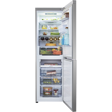 Hisense RB381N4WC1 Frost Free Freestanding Fridge Freezer With Water Dispenser Stainless Steel