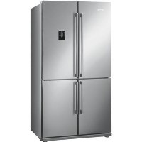 GRADE A1 - Smeg FQ60XPE Four Door Frost Free American Fridge Freezer - Stainless Steel Best Price, Cheapest Prices