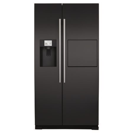 CDA PC71BL American Style Side-By-Side Fridge Freezer With Homebar Black