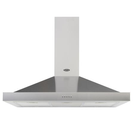 Belling Cookcentre 100 Chim 100cm Chimney Cooker Hood - Stainless Steel