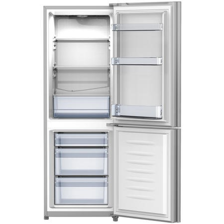 GRADE A1 - Fridgemaster MC50165S 144x50cm 112L Freestanding Fridge Freezer - Silver