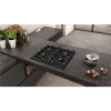 Neff T26DS49S0 N70 60cm Four Zone Gas Hob Black With Cast Iron Pan Stands