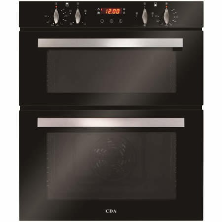 GRADE A2 - CDA DC740BL Electric Built Under Fan Double Oven With Touch Control Timer - Black